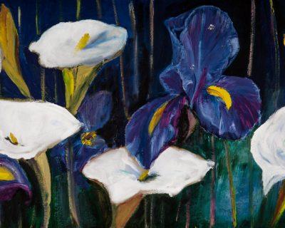 Iris and Arum Lily