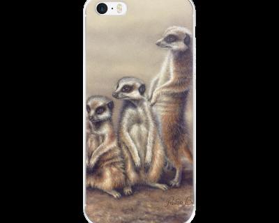 Open Canvas artist Renata Bruynzeel meerkat iPhone cover