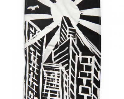 Open Canvas artist Rodney Malley tea towel City Sunlight