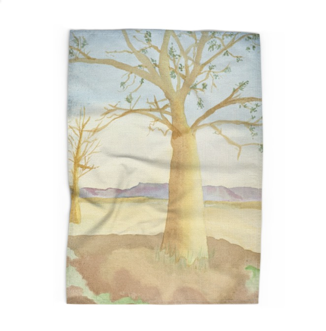 Open Canvas artist Irene Jacob tea towel Desert Scene