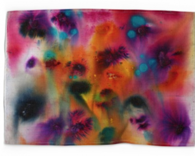 Ana Corral-Kelly the glance catches the colour of life and turns it into a rainbow tea towel