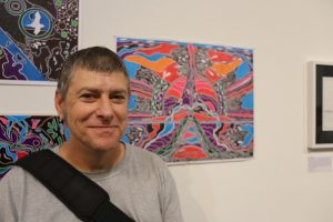 Open Canvas artist Stephen Whittaker at the Between the Lines exhibition launch. Picture: James Sampson